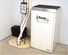 SaniDry Dehumidifier and Sump Pump