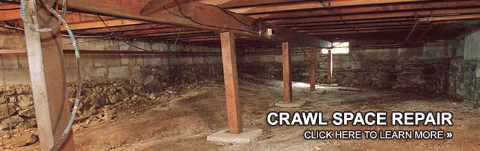 Basement waterproofing crawl space repair foundation for How to build a crawl space foundation for a house